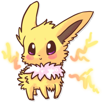 svg freeuse library Jolteon transparent cute. By magicpawed on deviantart