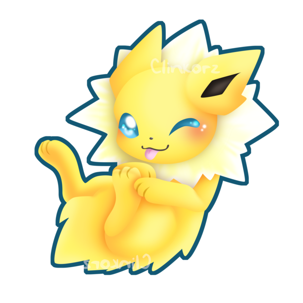 clip library Jolteon transparent cute. V rub my belly