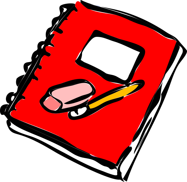 image download Red with pencil clip. Journal clipart