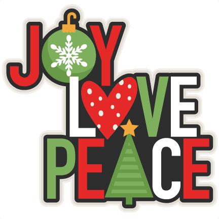 png freeuse download Joy Love Peace Christmas Title scrapbook cut file cute clipart files