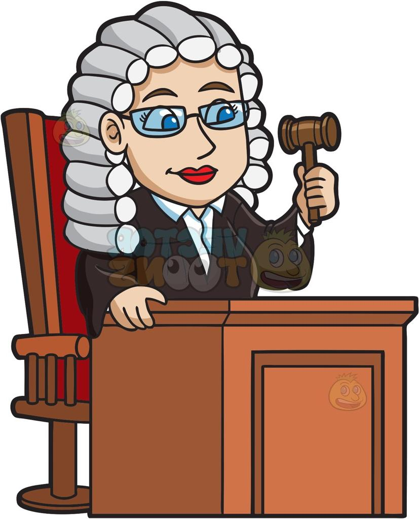 picture stock Station . Judge clipart.