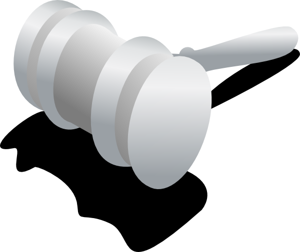picture free stock Gray hammer clip art. Judge clipart black and white