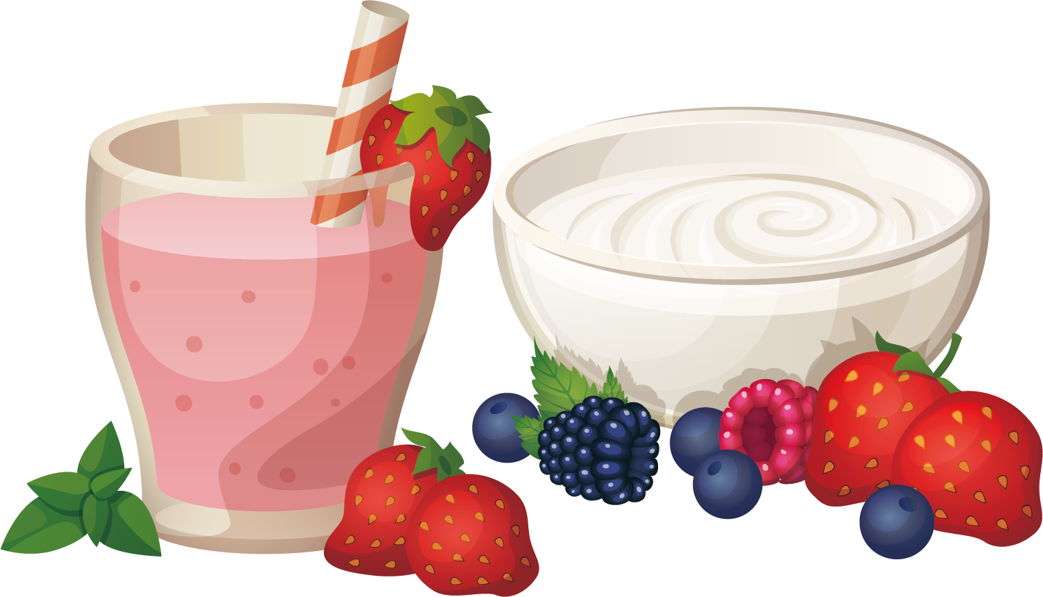 clipart library stock Strawberry yogurt clipart. Milkshake royalty free clip.