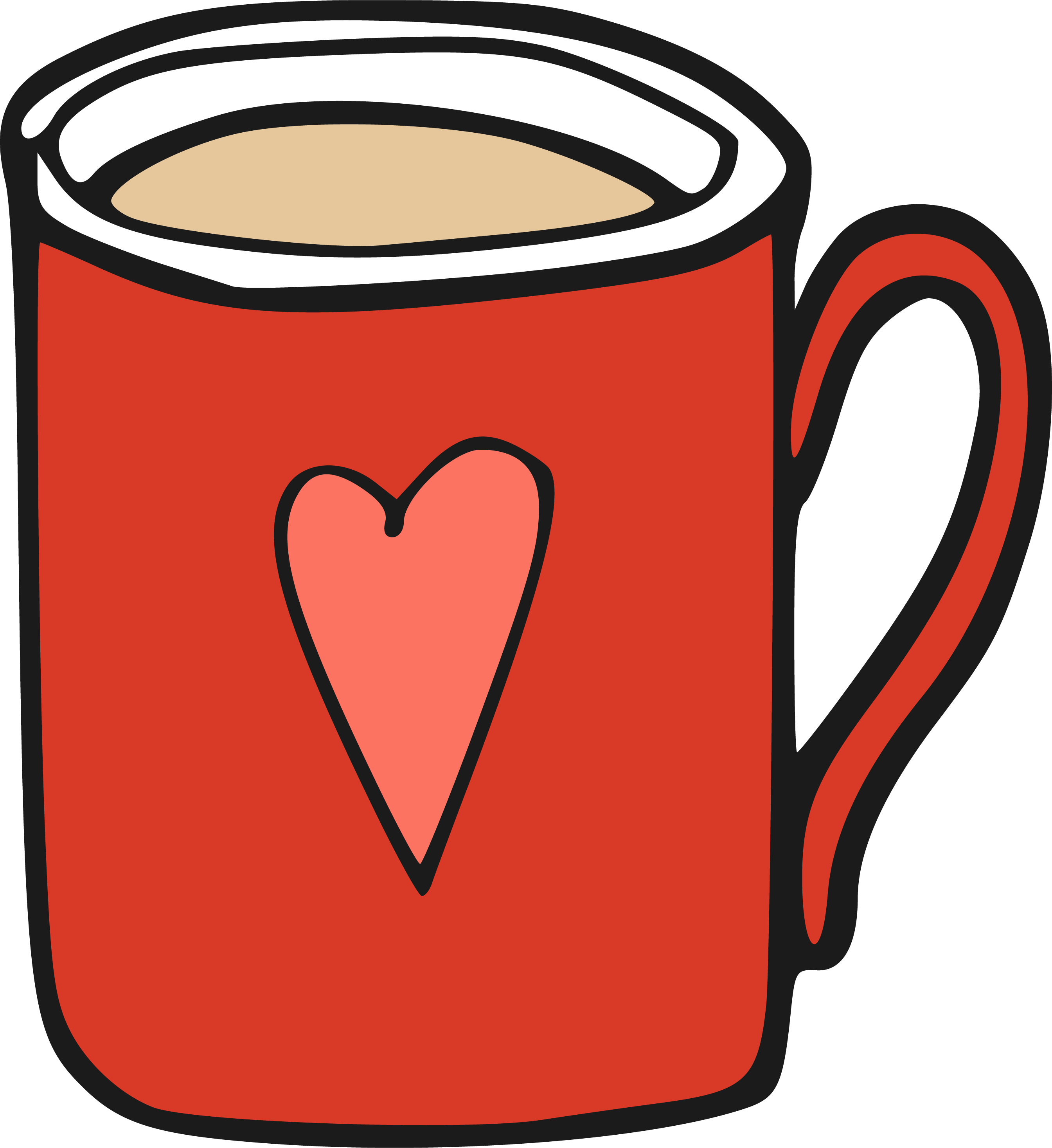 vector free Coffee cup clip cartoon. Mug clipart line art.