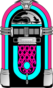 graphic free stock Pink and blue clip. Jukebox clipart vector.