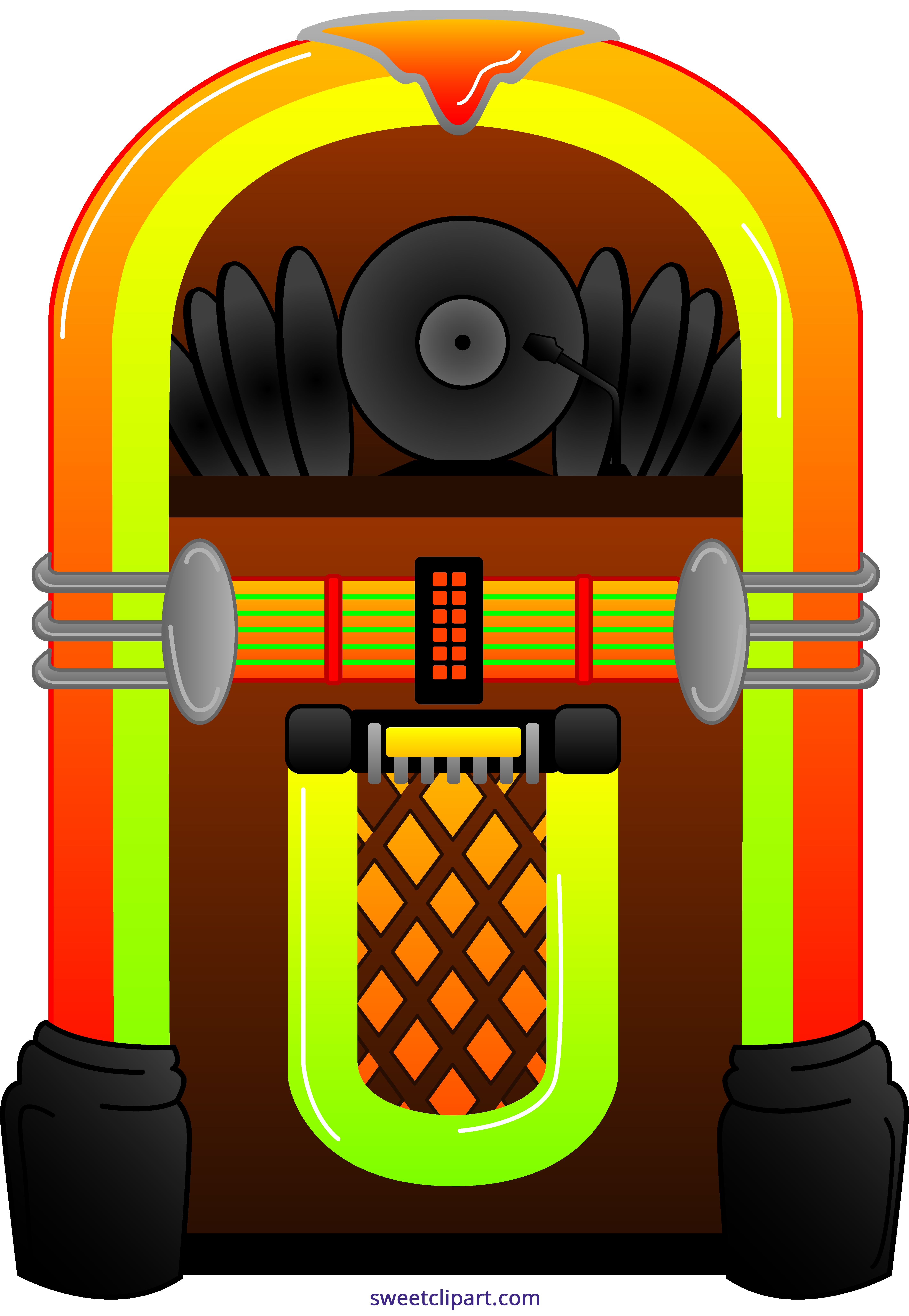 graphic transparent stock Jukebox clipart. Sweet clip art
