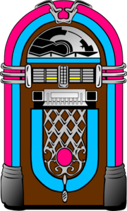 svg library Pink And Blue Jukebox clip art