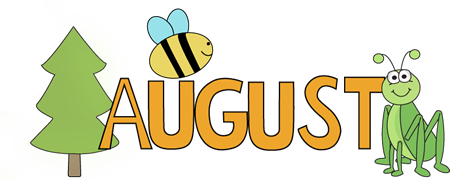 picture freeuse library August clipart. Clip art images month.