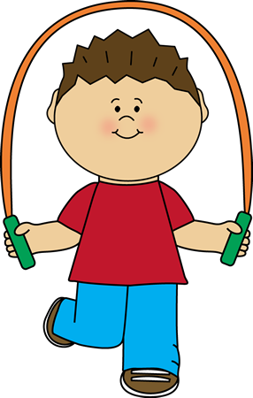 clip art download Boy playing with jump. Children testing clipart