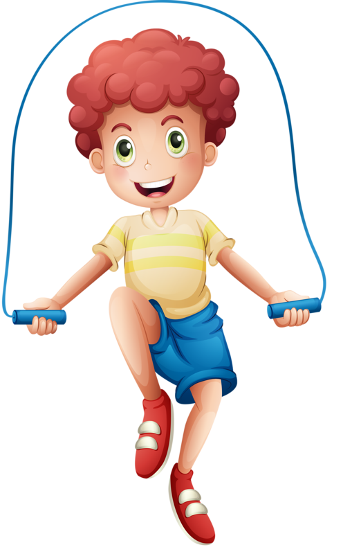vector library Jump clipart. Boy roping clip art.