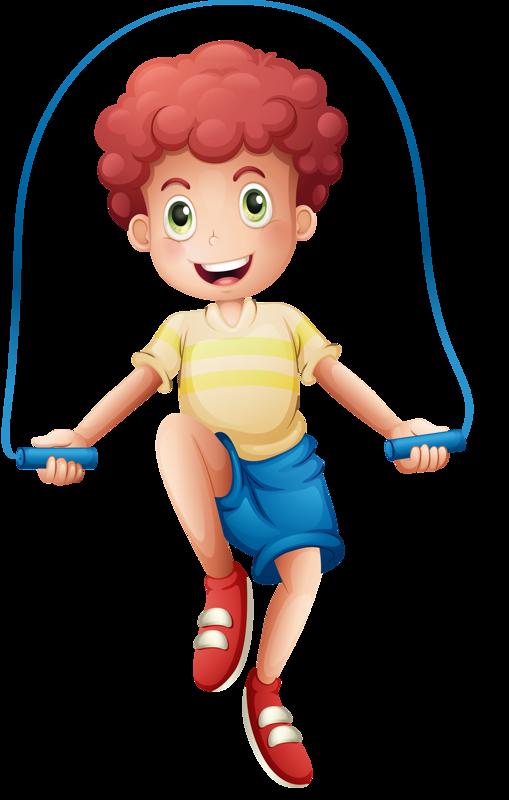 vector library Jump clipart. Boy roping clip art