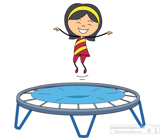 banner transparent library Free girl jump cliparts. Trampoline clipart.