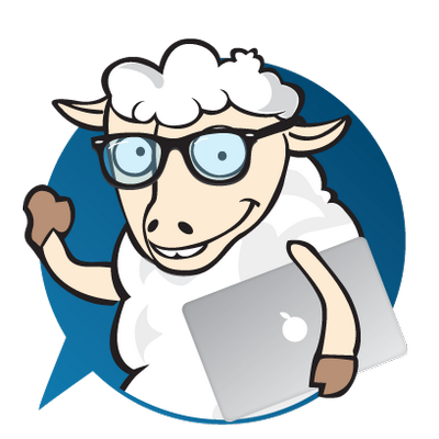 svg black and white library Jumping clipart nerd. Sheep twitter