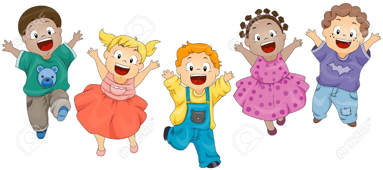freeuse stock Jumping clipart 1 kid. Kids station .