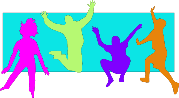 clip art freeuse download Kids spring clip art. Jumping clipart 1 kid.