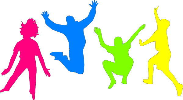 picture royalty free stock Kids playing clip art. Jumping clipart 1 kid