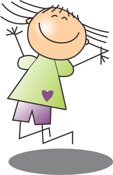 banner royalty free Girl . Jumping clipart
