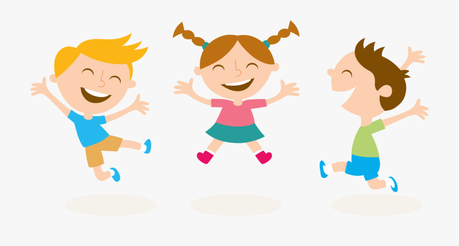transparent library Kids png cartoon transparent. Jumping clipart.