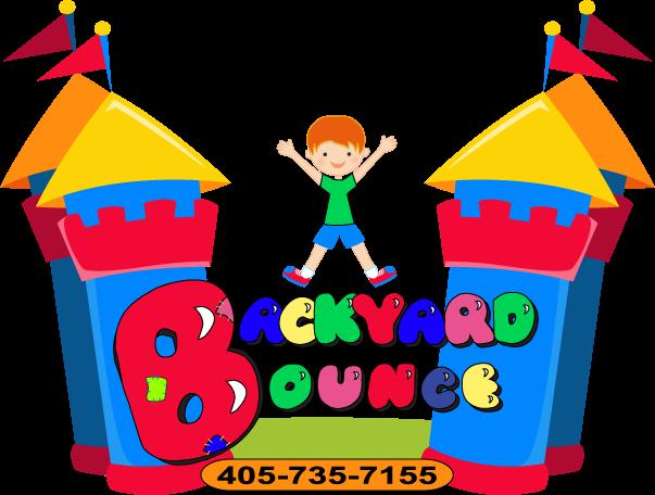 clipart download Bounce llc bounc. Jumping clipart backyard fun.