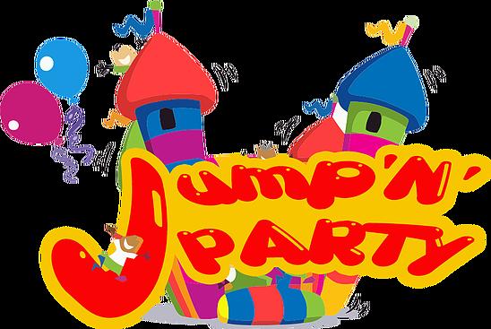 image free Jumping clipart backyard fun. Jump n party san.