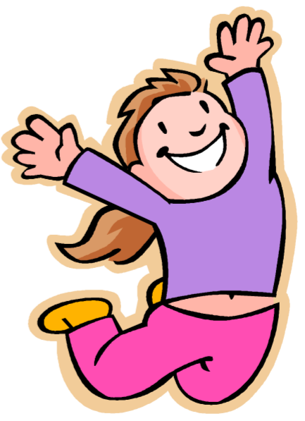 freeuse Jumping clipart feel good. Olympia bauman around hooray.