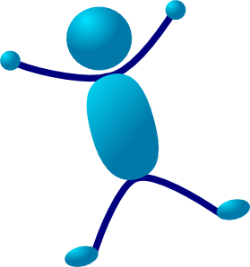 jpg library stock Stick man hurray clip. Jumping clipart star jump