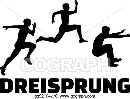 picture freeuse Jumping clipart triple jump. Vector art with german.