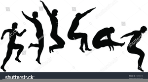 black and white download Free images at clker. Jumping clipart triple jump.