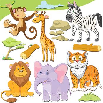 svg library download Jungle animal clipart. Animals cute safari