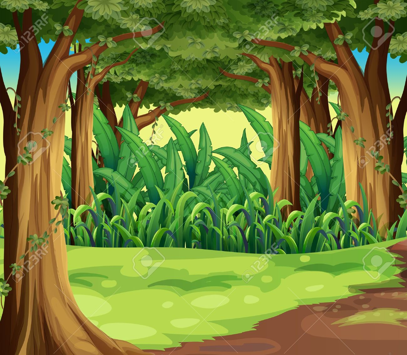 image black and white library Jungle clipart. Best clipartion com .