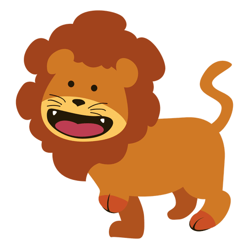 image library download Cartoon lion animal sitting in jungle