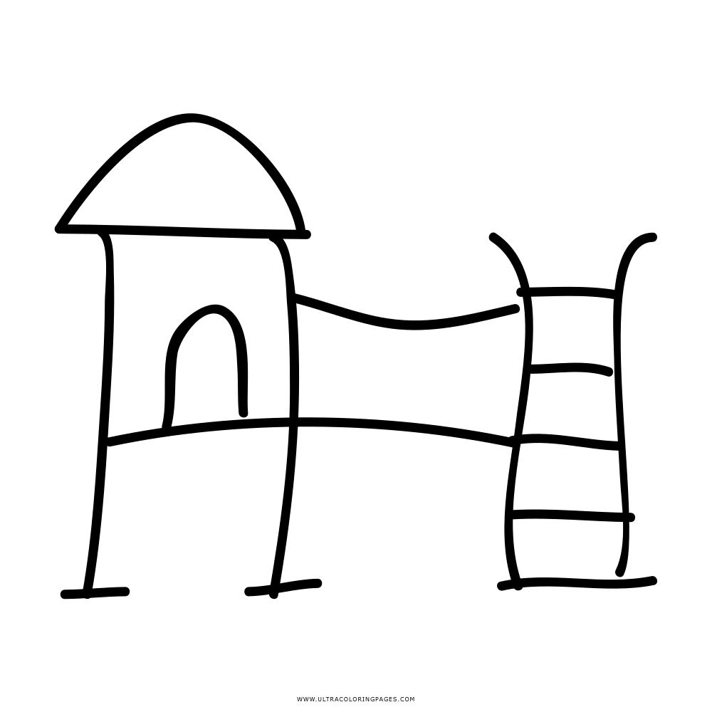 vector Jungle gym clipart black and white. List of coloring pages