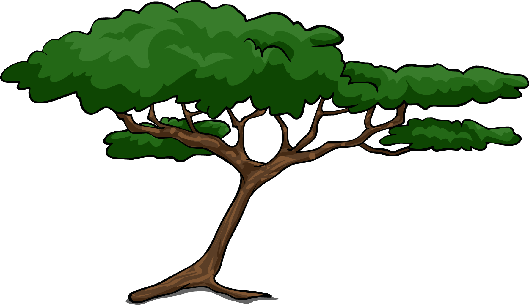 svg black and white Jungle Tree Clipart at GetDrawings