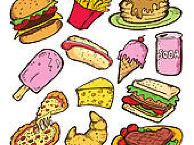 clip art black and white Food x free clip. Junk clipart unhealthy diet.