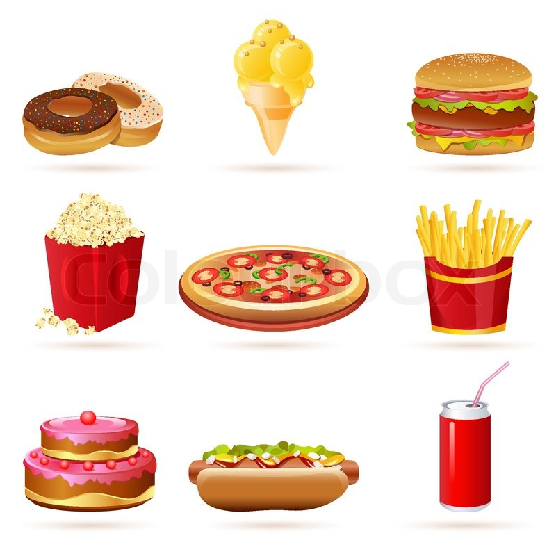 graphic royalty free stock Free images of food. Junk clipart unhealthy diet.