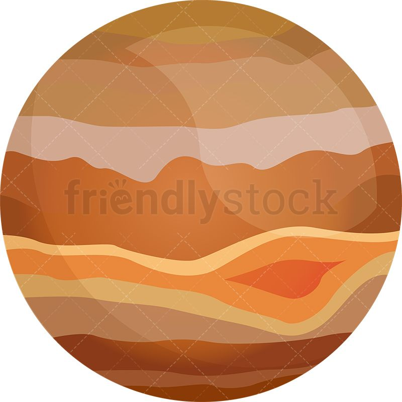 graphic stock Art clip planets illustration. Jupiter clipart space planet
