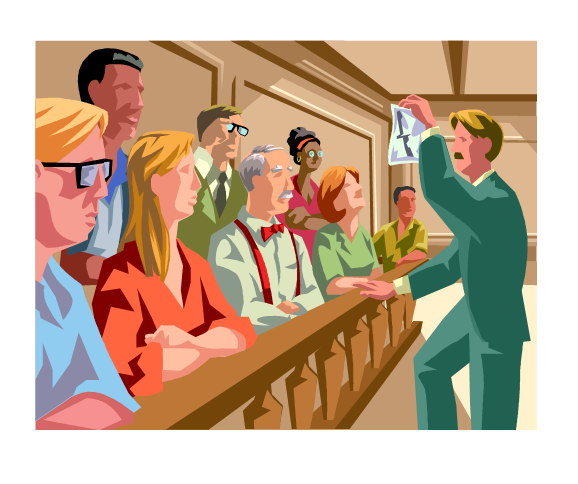 free library Talking to the what. Jury clipart