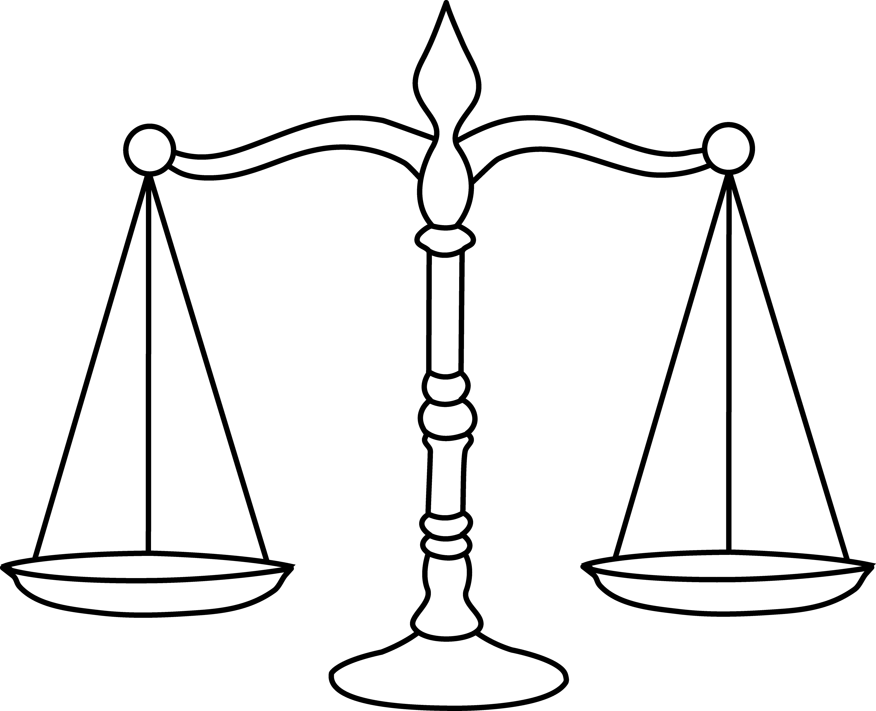 vector transparent download Scale clipart black and white. Legal scales of justice