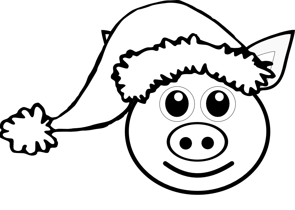 png free library Pink Pig Drawing at GetDrawings