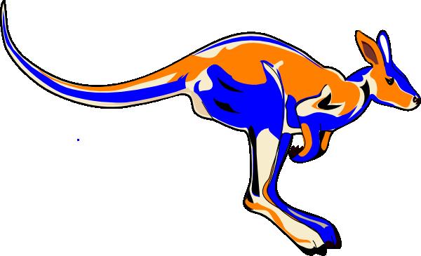 vector free library Kangaroo clipart. Blue clip art at