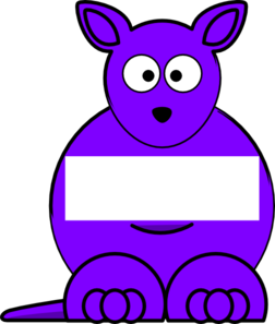 picture transparent download Kangaroo clipart purple. Sightword clip art at.