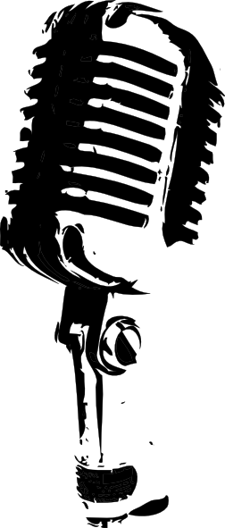 vector black and white library Clip art free download. Karaoke clipart.