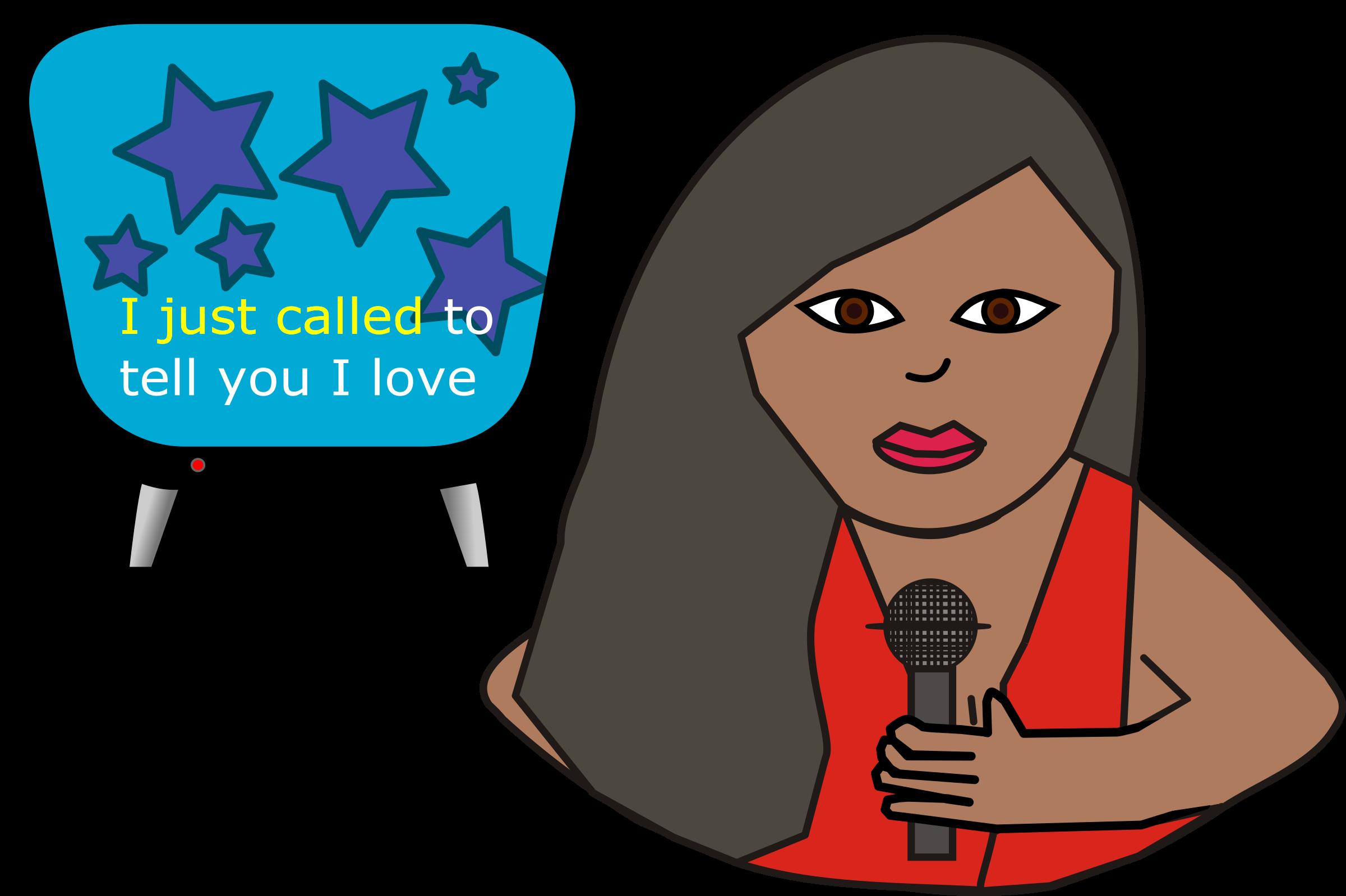 clip library download Woman big image png. Karaoke clipart.