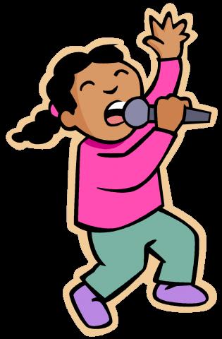 transparent Kids singing clipart. Karaoke district of columbia