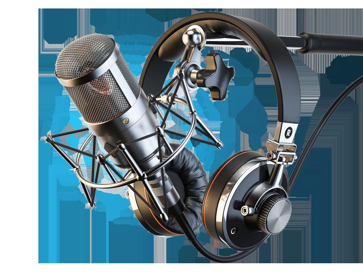 image freeuse stock Microphone and headphones my. Karaoke machine clipart