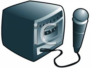 royalty free stock Karaoke machine clipart. Free cliparts download clip
