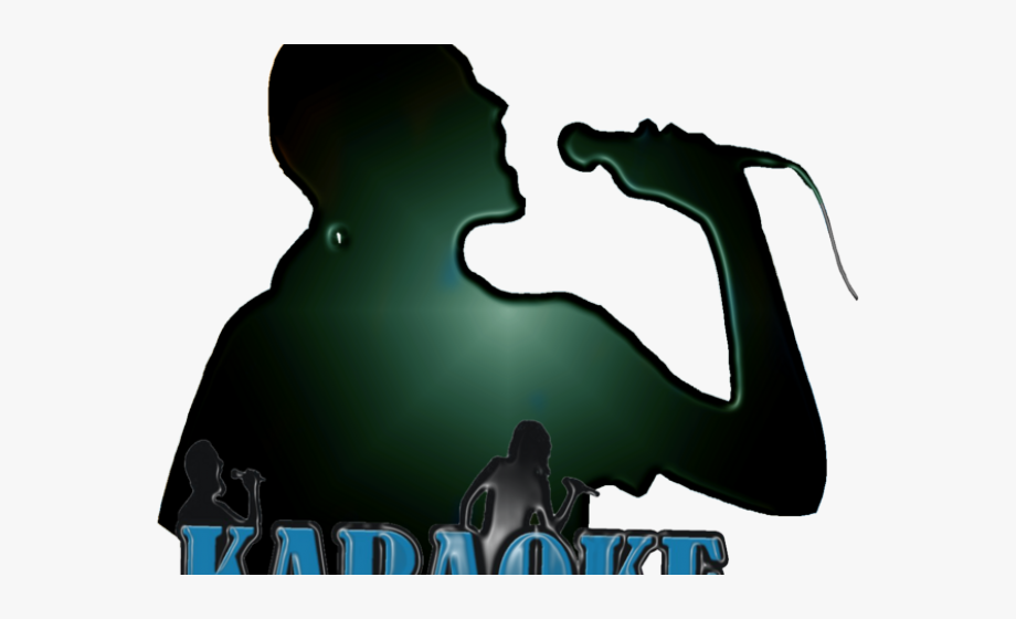 clipart transparent download Singing with microphone . Karaoke singer clipart