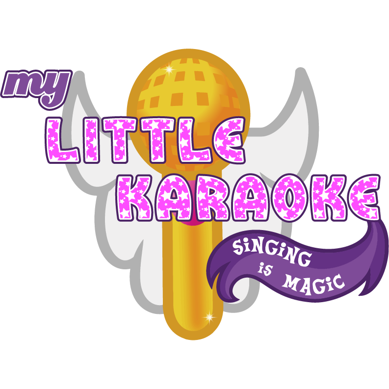 graphic library stock My little is magic. Karaoke singing clipart.