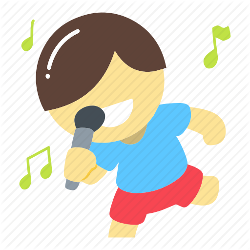 image royalty free library Karaoke singing clipart. Big dreams flat by.