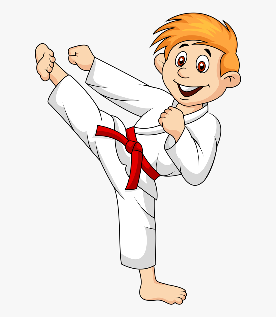 clip art freeuse download Individual sport do cartoon. Karate clipart.